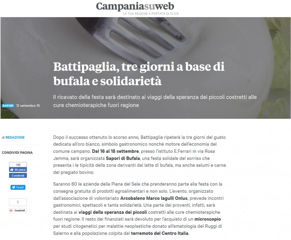 Campania Su Web - Sapori di Bufala 2a edizione