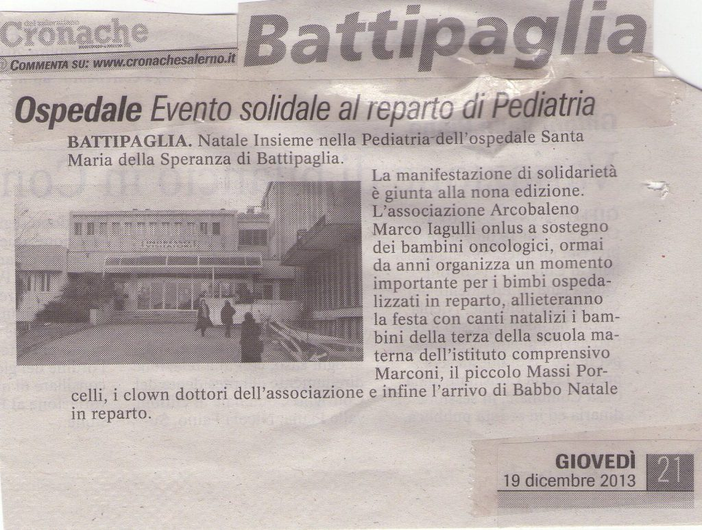 Cronache di Salerno - Natale solidale in pediatria 2013