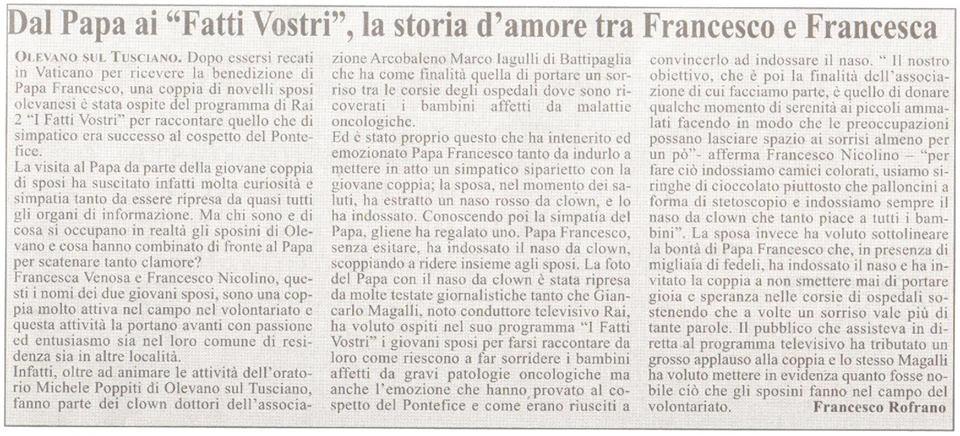 Francesco e Francesca a I fatti vostri