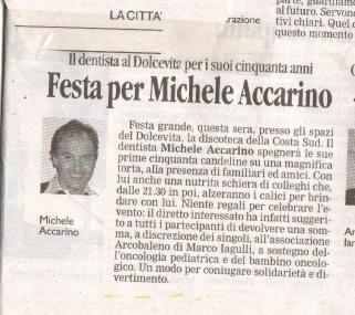 La città - Festa per Michele Accarino