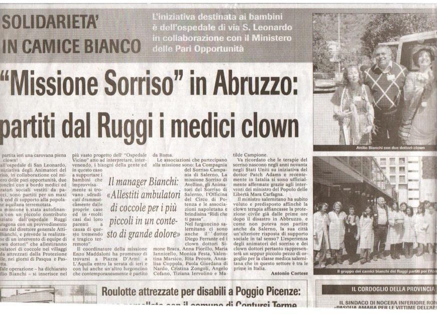 Missione Sorriso in Abbruzzo