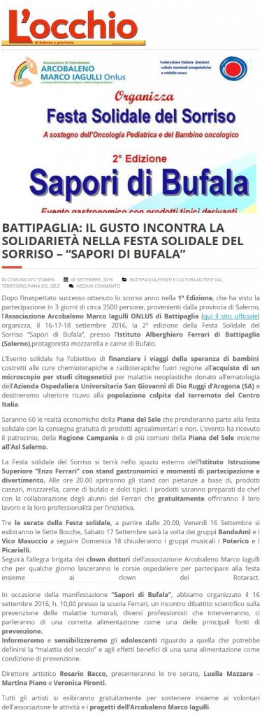 L'occhio di Salerno - Festa del Sorriso Sapori di Bufala 2016