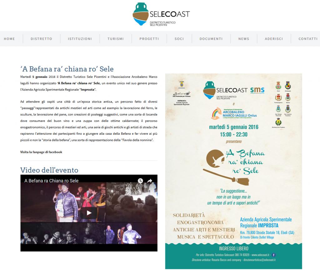 SeleCoast - 5 gennaio 2016 - 'A Befana ra' chiana ro' Sele